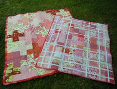 ❤ =^..^= ❤   Life in the Scrapatch: The Baby Sister Quilt is Done: Strawberry Shortcake ~ and Big Sister Quilt to left.