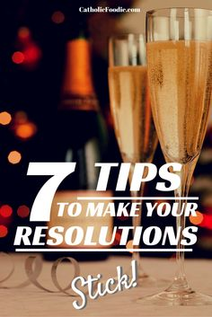 New Year's resolutions can be a touchy topic. Some people love 'em, and some people don't. According to Michael Hyatt, traditional goal-setting really doesn't work. But that doesn't mean that we have to be stuck where we are. Here are 7 Tips to Help Make Your 2015 New Year's Resolutions Stick: http://catholicfoodie.com/7-tips-to-make-your-2015-new-years-resolutions-stick