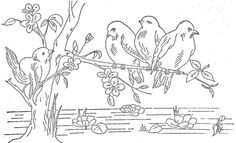 1888 Ingalls Birds on Branch Scene | Flickr - Photo Sharing!