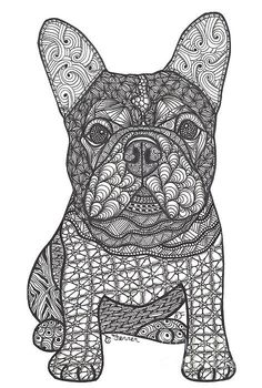 For The Love - French Bulldog Print By Dianne Ferrer