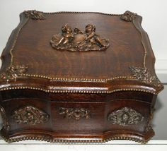 1800's antique jewelry box. #antique #vintage #box