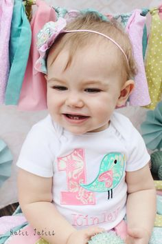 Bird Birthday Shirt - Bird Girls Birthday Shirt - Boys Birthday - Toddler Birthday Shirt - First Bir Bird Birthday Parties, Birthday Party Outfits, Birthday Shirts, Birthday Ideas, Baby Girl First Birthday, Toddler Tutu, 1st Birthdays, Diy, Adorable Pictures