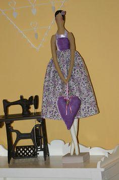 Lavender Tilda vintage doll angel by ShabbyParis on Etsy, €60.00
