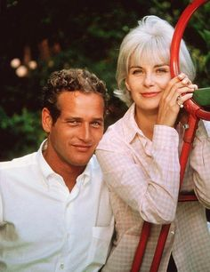 Paul Newman & Joanne Woodward left Hollywood so their family life and children would not be harmed. They created a company that made healthy food and donated the profits to charity. The loved each other 'til death them did part.