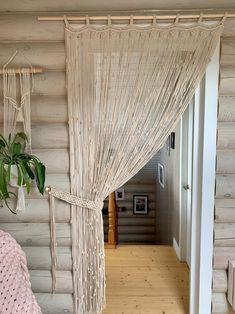 Macrame Curtain, Beaded Curtains, Sheer Curtains, Panel Curtains, Doorway Curtain, Curtain Panels, Bohemian Curtains, Bohemian Room, Home Curtains