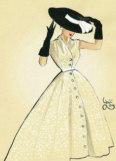 Complete Vintage Look. #sketch