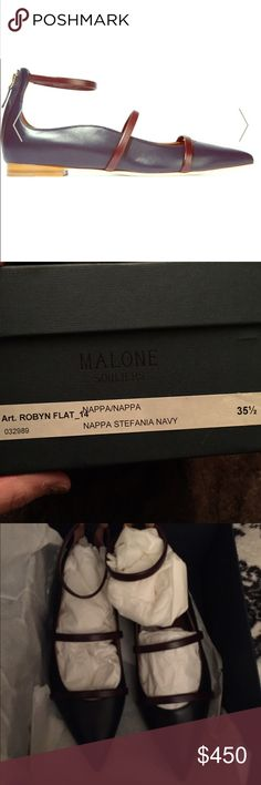 Malone souliers 35.5 navy flat NEW IN BOX malone souliers Shoes Flats & Loafers