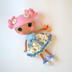 Pooh Bear Dress for Full Size  Lalaloopsy Doll by PistachioLoopsy, $14.00