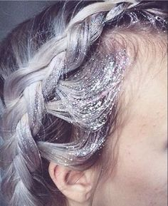Glitter French Braided Halo