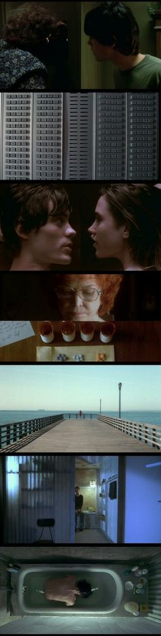 The use of horizontal and vertical lines in Requiem for a Dream(2000).