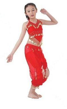 52887f018428 Amazon.com: Chiffon Belly Dance Costume Set for Girls Kids Children: Toys  &