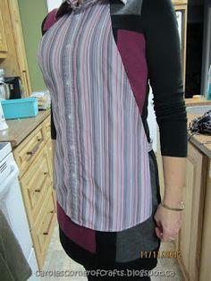 Sewing - Make a Mans Shirt into an Apron tutorial