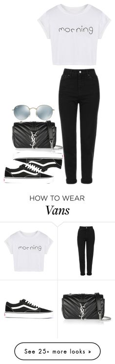 """#631"" by laylah-wish on Polyvore featuring WithChic, Topshop, Vans, Yves Saint Laurent and Ray-Ban"