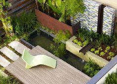 Modern Garden Landscape Design Ideas, Pictures, Remodel and Decor Small Garden Design, Garden Landscape Design, Patio Design, Courtyard Design, Courtyard Ideas, Pond Design, Backyard Designs, Modern Landscaping, Backyard Landscaping