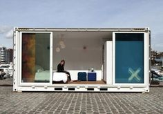 """""""Sleeping Around is a new hotel concept combining three popular travel trends: pop-up venues, shipping container architecture and crowdsourcing."""" #travel #stay #Belgium"""