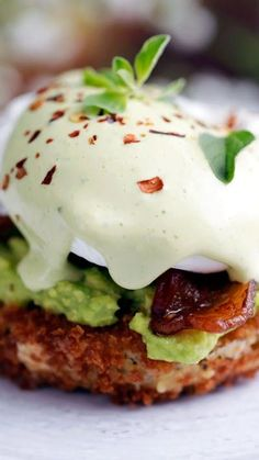 Green Tomato Eggs Benedict A perfectly poached egg drizzled with basil hollandaise on a fried green tomato makes for drool-worthy brunching.A perfectly poached egg drizzled with basil hollandaise on a fried green tomato makes for drool-worthy brunching. Brunch Recipes, Breakfast Recipes, Egg Dinner Recipes, Tailgating Recipes, Breakfast Sandwiches, Barbecue Recipes, Barbecue Sauce, Brunch Ideas, Grilling Recipes
