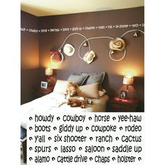 Chick wants to be a cowgirl, we'll have to settle for a cowgirl themed room.