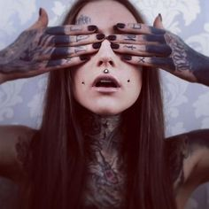 sailorscent:  womenwithink:  Monami Frost  Oh, to be 19 years old and have blacked out a crappy sleeve and knuckle tattoos already. #goodlif...