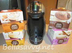 NESCAFÉ Dolce Gusto GENIO Coffee Maker ($130 value) GIVEAWAY    http://www.bellasavvy.net/?p=52262