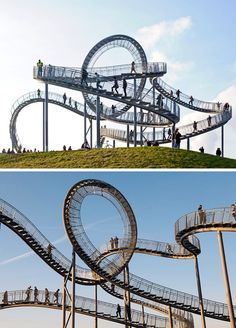 Cool Germany Travel Idea: Turtle and Tiger Roller Coaster Stairs