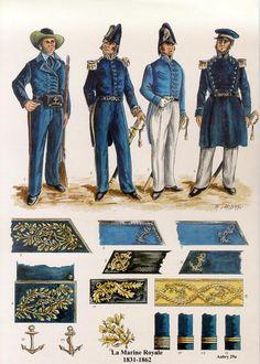 La Marine Royale Les planches uniformologiques de Robert Aubry