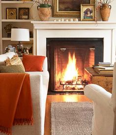 There's no better place to hunker down on a cold night than in a comfy cozy living room. Here are some cozy living room designs to help you achieve maximum hygge. Cozy Living Rooms, Home Living Room, Living Room Designs, Living Spaces, Cream And Brown Living Room, Cream Living Room Decor, Burnt Orange Living Room, Cottage Living, Apartment Living