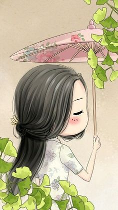sakura girl part 3 Kawaii Chibi, Cute Chibi, Kawaii Cute, Anime Chibi, Cute Girl Wallpaper, Kawaii Wallpaper, Art And Illustration, Mode Poster, Cute Cartoon Girl