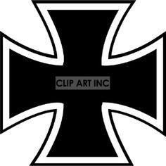 Black and white vector iron cross