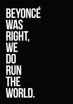 Beyonce Was Right //Typography Print by TheNativeState on Etsy