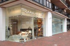 Dekton Ariane, witte gevel met getextureerde nerven in het oppervlak, Zara Home - Knokke Belgium