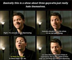 Tell us how you really feel Misha.... [SET OF GIFS] Misha Collins interview