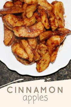 These Cinnamon Apples are SO easy to make and they'll warm your insides. You won't be able to eat just one of them either.