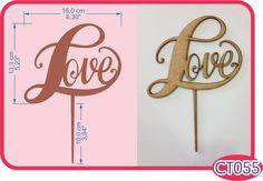 Love Cake Topper. -Pedidos/InquirIes to: crearcjs@gmail.com