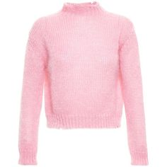 Filles A Papa Chunky Knit Sweater (4.392.210 IDR) ❤ liked on Polyvore featuring tops, sweaters, pink, shirts, over sized sweaters, pink oversized sweater, tartan shirt, grunge sweaters and pink sweater