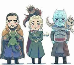 This is so cute ♥ Dragon riders!