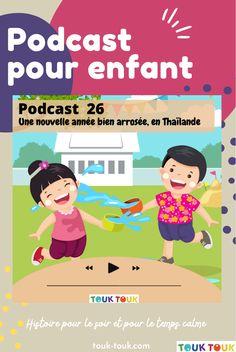 Un podcast pour enfant pour découvrir le monde. Un moment de temps calme, une activité ludique qui stimule l'imagination. Une bonne activité pour les enfants. Les podcast : Voyage avec les merveilleuses histoires de Touk Touk . Ici on parle de tradition et de le Thaïlande. Découvrez tous nos supports, kits d'activités et magazines : www.touk-touk.com
