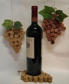 candle holders to put on top of wine bottles | Dump A Day Crafty Uses For Old Wine Corks - 30 Pics