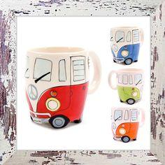 Ceramic Camper Van Mug Set (4) only £29.99