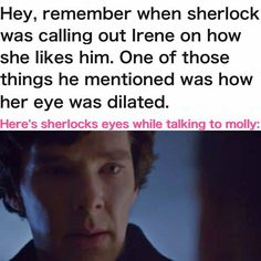 Admittedly, they  in a dark room.  But, he was being fairly vulnerable and transparent.  Or as transparent as Sherlock gets.  Yes, I ship Sherlock and Molly.