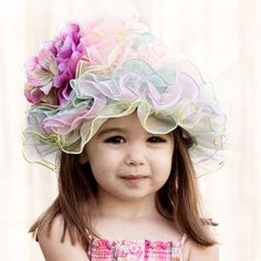 Easter Hat, Flower Girl Hat, Toddler Baby Hat, Tea Party or your Sunday best hat. Girls Dress Up, Little Girl Dresses, Little Girls, Tea Hats, Tea Party Hats, Peach Costume, Girls Tea Party, Tea Party Baby Shower, Easter Parade