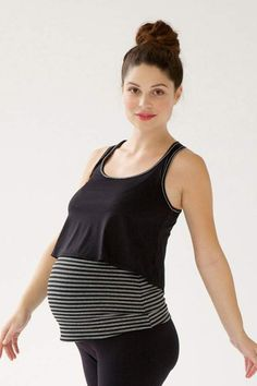 Queen Bee Layered Maternity Nursing Active Cami by Belabumbum Nursing Wear, Maternity Nursing, Maternity Wear, Maternity Tops, Maternity Fashion, Racerback Top, Maternity Activewear, Breastfeeding Clothes, Pregnancy