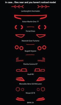 Como reconocer un super carro en la noche?