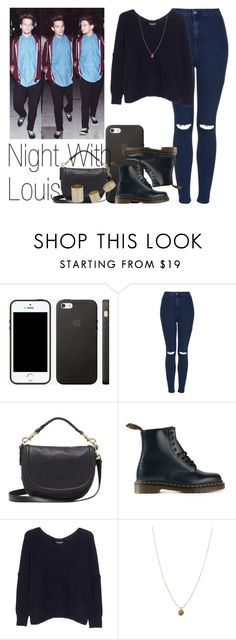 """""""Night With Louis"""" by the4dipshits ❤ liked on Polyvore featuring Topshop, Mulberry, Dr. Martens, Junya Watanabe and Orelia"""