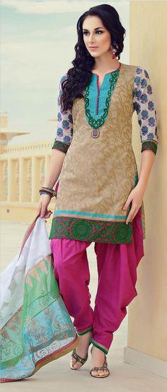 Fawn #Cotton #Salwar Suit @ $127.33