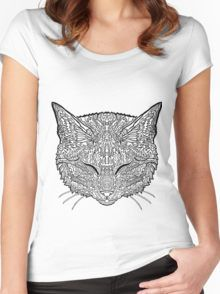 Manx Cat - Complicated Coloring Women's Fitted Scoop T-Shirt