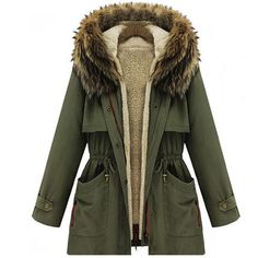 2015 Winter Womens Parka Casual Outwear Military Hooded Coat Winter Jacket Women Fur Coats Women Overcoat Woman Clothes H4470