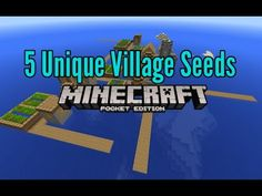 5 Unique Village MCPE Seeds 0.13.1 Minecraft Pocket Edition 0.13, 0.12, 0.11 - YouTube