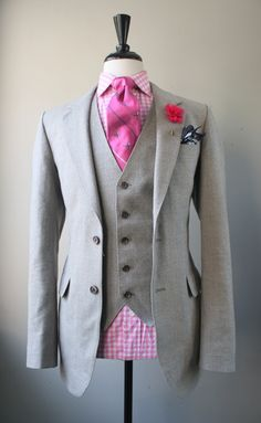 """I love the pink with the gray... but the checked shirt is way too """"Green Acres.""""  Who's bright idea was this?"""