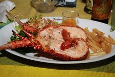 Feast on a plate of grilled lobster