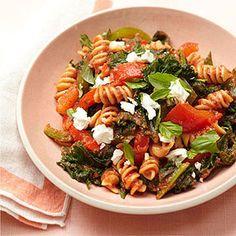 Kale-Powered Pasta #myplate #vegetables #wholegrain